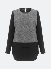[B5530] 레이어드 믹스 셔츠